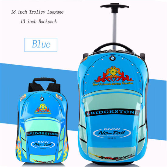 1c811fabbdb9 Wholesale Kids 3D Cartoon Car Shape Children School Bag Kids School Trolley  Suitcase Set with Wheels for Boys