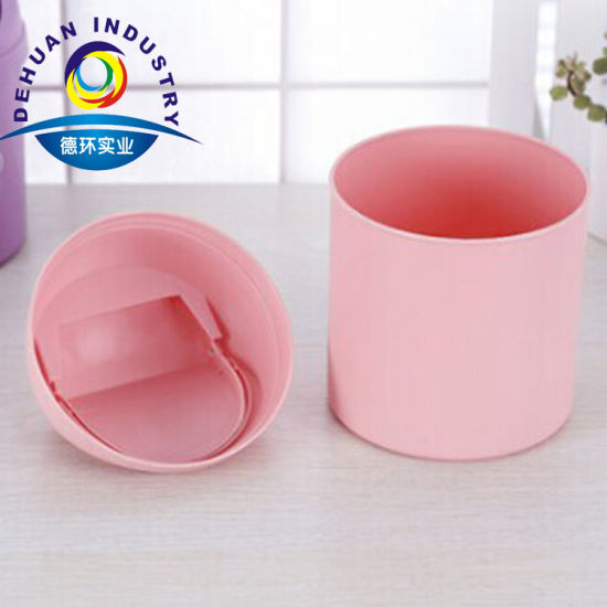 Household Round Standing Trash Can Household Mini Table Trash Can