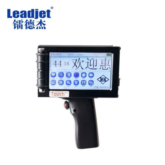 Leadjet Low Cost Handheld Inkjet Package Printer for Expiry Date Simple Logo Coding pictures & photos