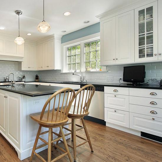 American Style Wood Modular Ready Made Kitchen Cabinets Set