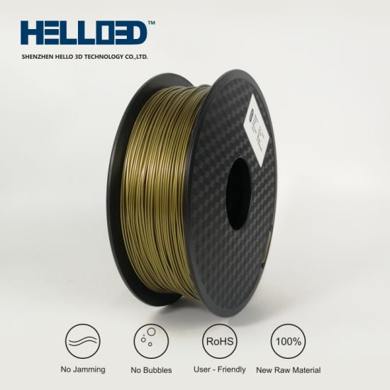 Hello3d Metal Like Bronze Filament 3D Printer Filament PLA