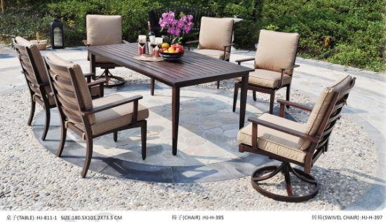 Patio Furniture Cast Aluminum Garden, Garden Dining Tables