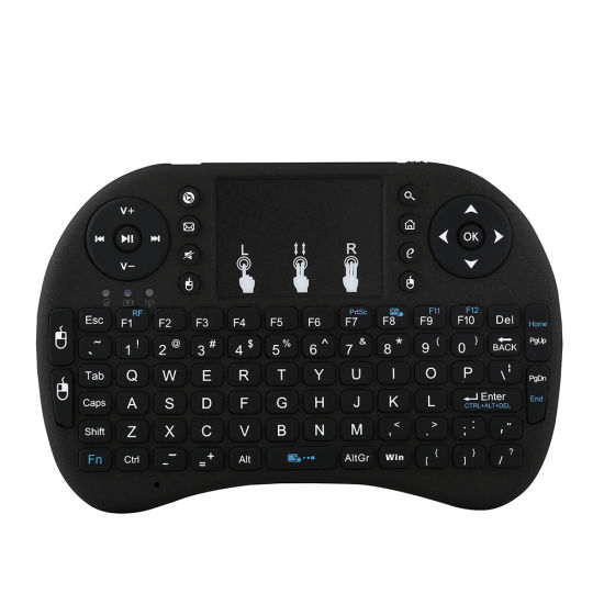 a87231aeb2f I8 Mini 2.4GHz Wireless Touchpad Keyboard with 3 Color Backlit and Mouse  for PC, Pad, Tx Box, Google Android TV Box, HTPC, IPTV (Black)