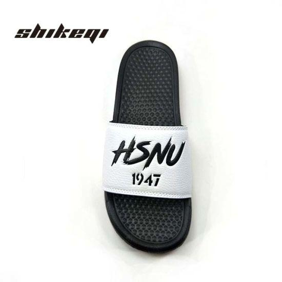 6ce8b606a1c73 China Shikeqi High Quality Fancy Men Slides Custom Logo