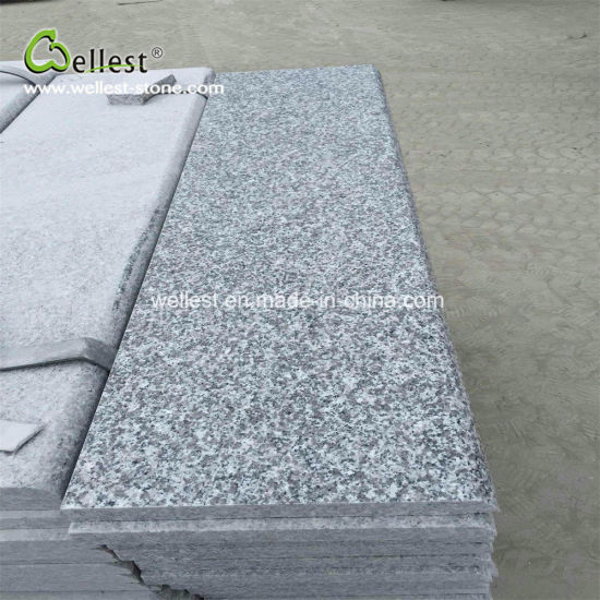 Grey Granite Steps With Bullnose Edge Stairs And Risers For Paving