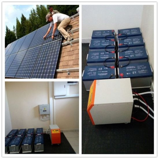China Install Support 5kw 10kw Solar Power System Battery Storage Solar Energy System Build Your Own House China Solar Power Station Solar Power Energy