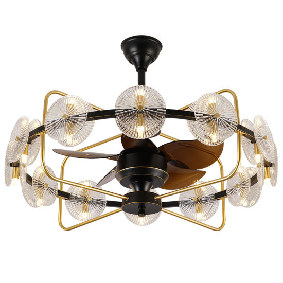 China Invisible Dimmable Ceiling Fan, Dining Room Ceiling Fan
