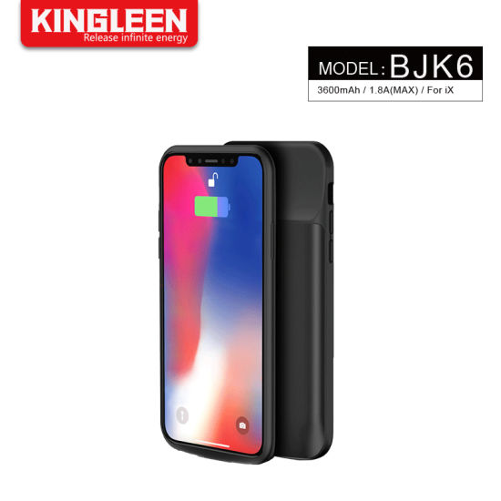 3600mAh Ultral Thin Battery Case for iPhone X Backup Power Bank Case