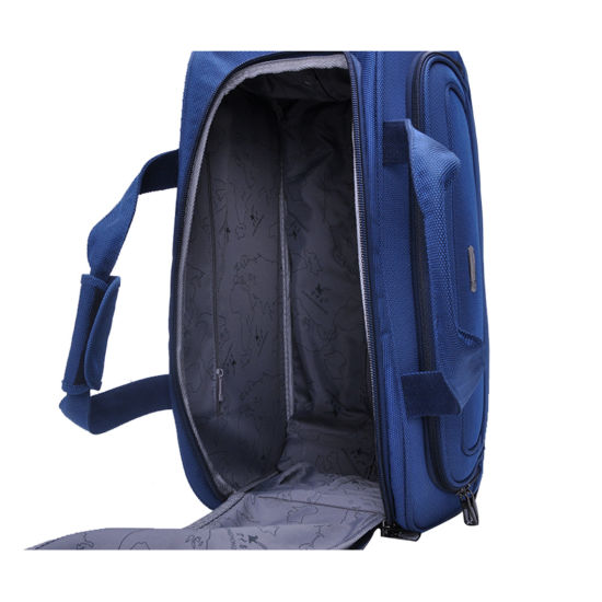 Polyester Travel Bags Luggage Suitcase with Drawbars & Wheel Trolley Bag