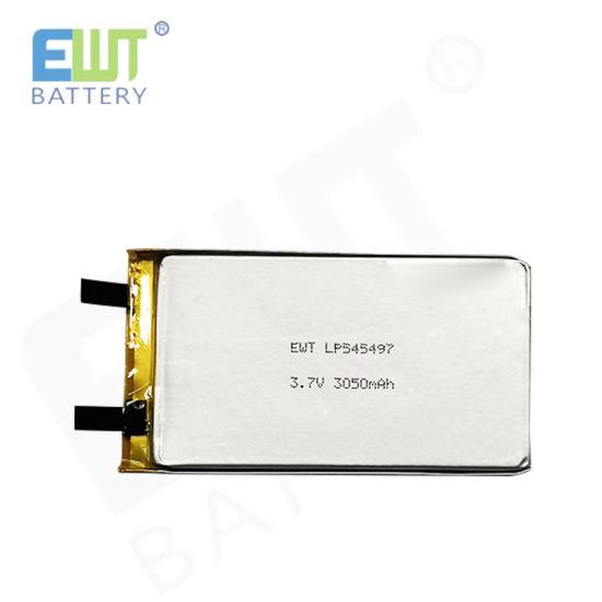 Lithium Polymer Battery Ewt 3.7V 3050mAh for Lp545497 Mini Lipo Cell