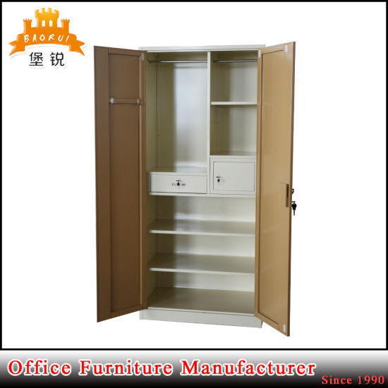 Fas-071 Large Metal Bedroom Cabinet Wardrobe Steel Almirah