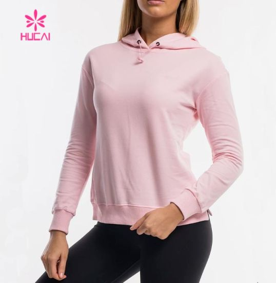 Women Workout Custom Hoodie Sweatshirts Fitness Shirt