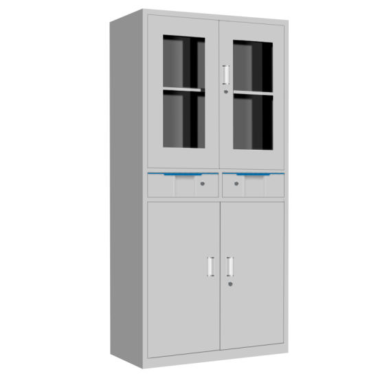China Grey Color Box File Storage Metal Cupboard With Doors China