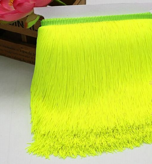 High Quality Nylon Thickness Long Fringe Trim for Dancing Dress