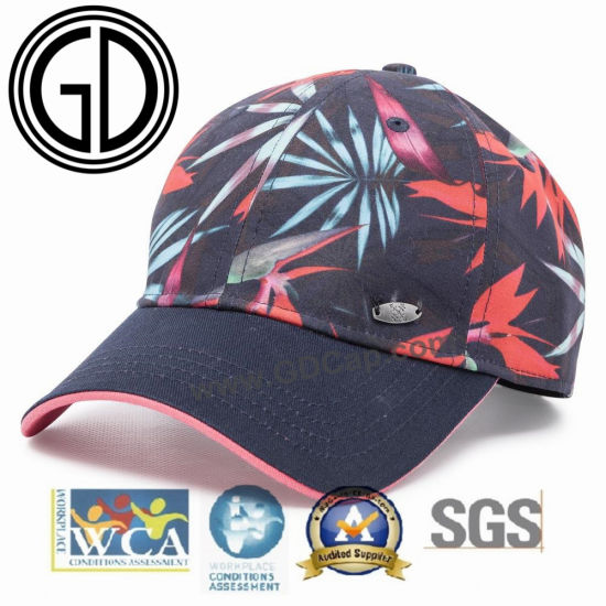 Newest Fashion Cotton Sandwiches Baseball Cap with Sublimation Printing