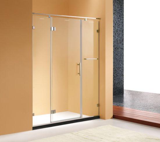 China Semi Frame Design 10mm Tempered Glass Shower Door For Barhroom