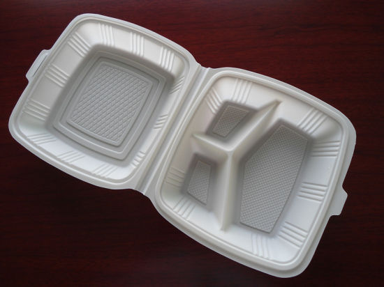 OEM Design Biodegradable Double Wall Lunch Box pictures & photos