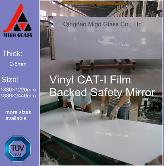 Vinyl Film Safety Silver or Aluminum Bathroom Decorative Wall Mirror pictures & photos