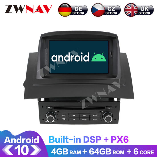 Android 10.0 4G+64G Car DVD Player GPS Navigation for Renault Megane 2 Fluence 2002-2009 Multimedia Player Auto Stero Head Unit