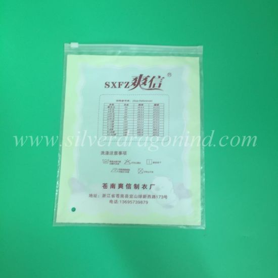 LDPE Plastic Ziplock Packing Bag with Customed Printing pictures & photos