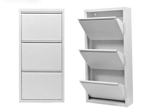 Ordinaire 3 Tier Metal Shoe Cabinet