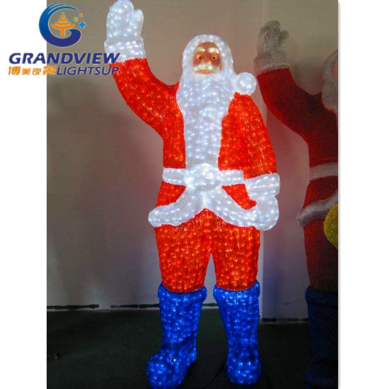 cute led santa claus for christmas decoration with 10 discount
