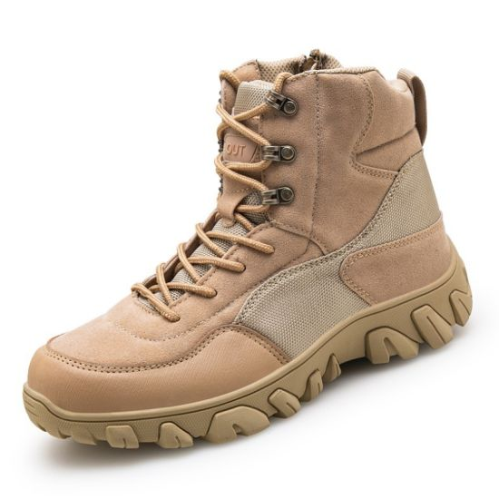 OEM Waterproof Fabric Jungle Camouflage Tactical Boots Outdoor High-Top Autumn Winter Jungle Camouflage Tactical Boots