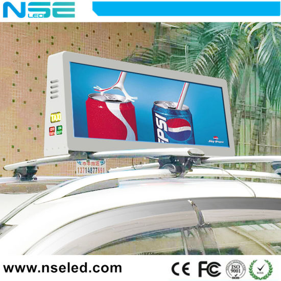 P2.5/P3/P3.33/P5 Outdoor Taxi Top Advertising LED Sign Display