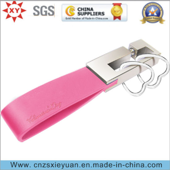 High Quality Custom PU Leather Key Chain for Gifts