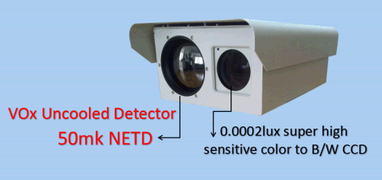 Double Lens PTZ Outdoor Camera for Security