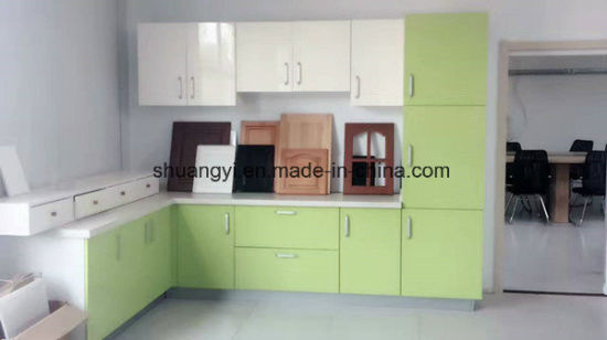 Modern and Simple High Gloss Paint Finished Small Kitchen Cabinet