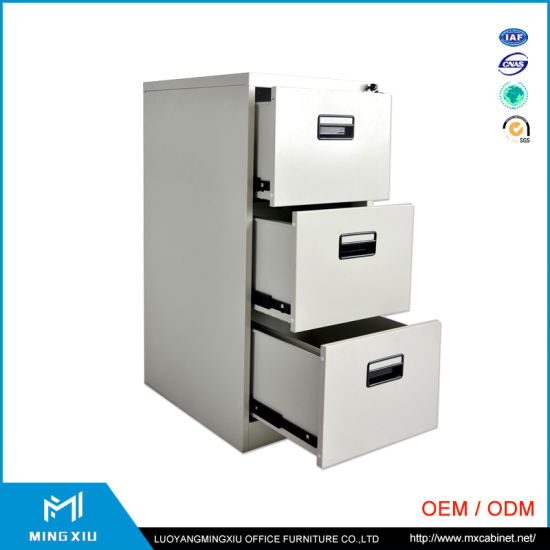 Mingxiu High Quality 3 Drawer Vertical File Cabinet / Metal Drawer Filing Cabinets pictures & photos