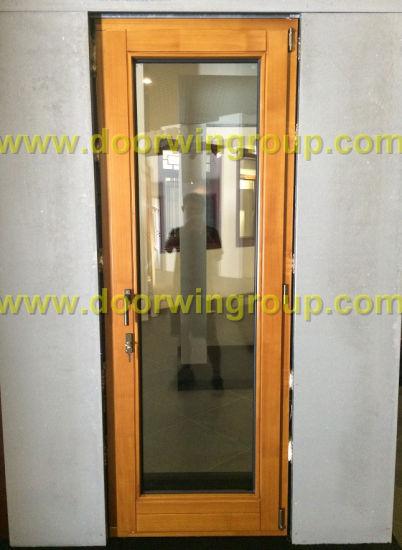 High Quality Solid Timber Aluminium Patio Door, Perfect View Thermal Break Aluminum Hinged Patio Door