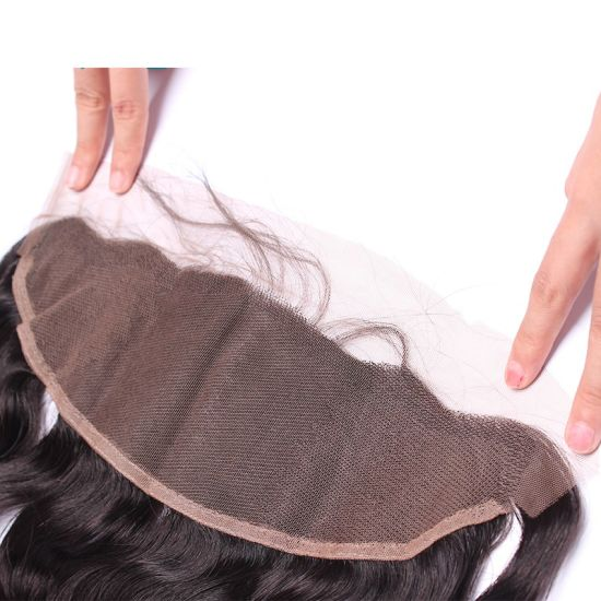Human Hair 13X4 Ear to Ear Lace Frontal Closure with Bundles pictures & photos