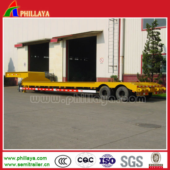 2 Axles 30 Ton Cimc Low Bed Semi Trailer for Transport Heavy Duty Cargo pictures & photos