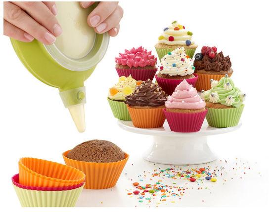 Non-Stick Heat Resistant Silicone Muffin, Cupcake Baking Pan, Mini Cake Baking Molds