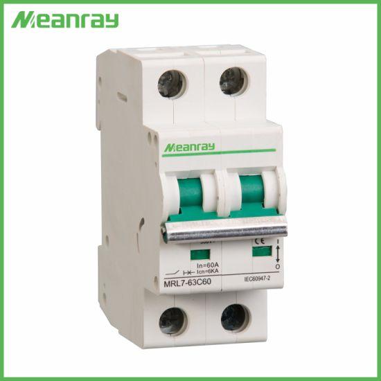 240V/415V 50Hz/60Hz Solar PV System 16A 20A 32A 40A 63A DC C60 Miniature Circuit Breaker