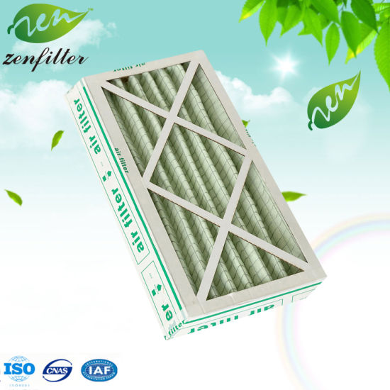 Cardboard Frame Synthetic Fiber Pleated Pre Filter