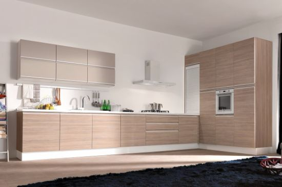 MDF Wood Modern Kitchen Cabinet Home Furniture (PR-K2017)