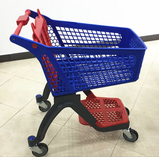 New Design Trolley Supermarket High End Plastic Shopping Cart pictures & photos