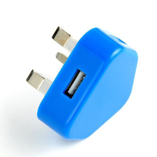 3 Pin UK Travel Plug Adapter Charger Wall Socket USB Port for Phones
