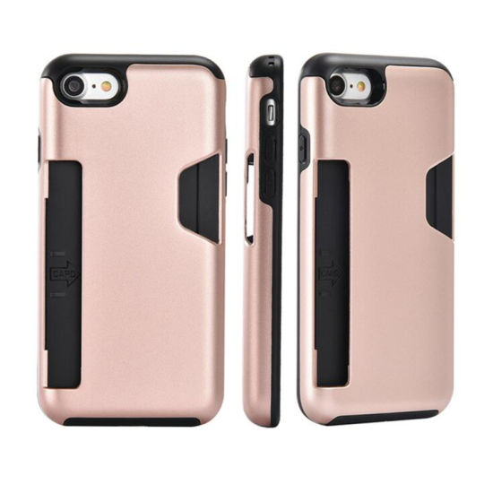 Wholesale Price Dual Layer Protective 2 In1 Card Slot Phone Case for iPhone pictures & photos
