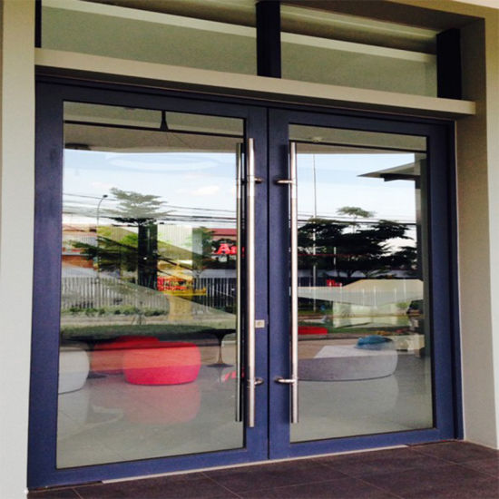 China Exterior Commercial Glass Aluminum Frame Storefront Swing Door