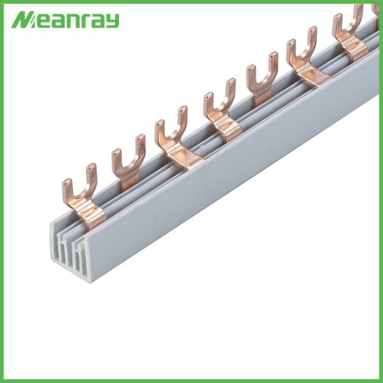 Terminal Block Copper Connector Electric Fork U Type Plastic Busbar