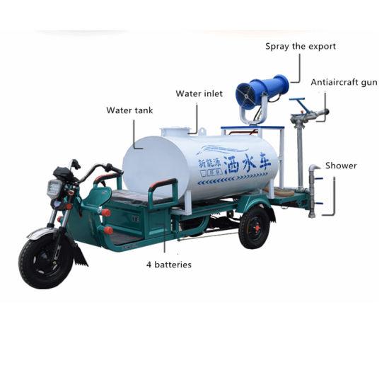 Electric Garden Watering Tricycle Sprinkler with Fog Guns Irrigation Sprinkler