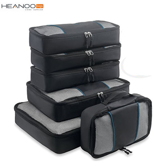 Travel 6 Set Packing Cubes with Shoe Bag Compression Travel Luggage  Fashion