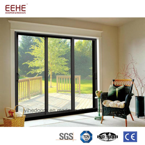 China Residential Aluminum Sliding Patio Glass Doors China