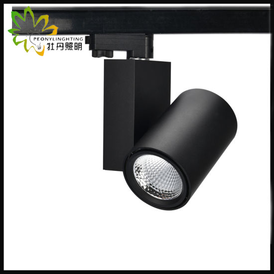 2/3/4 Wires 15W COB LED Track Spot Light W with 10/23/38 Degree Beam Angle