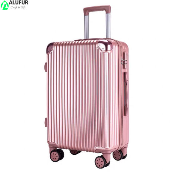 Luggage Sets of 3 Portable ABS Trolley Suitcase with Telescoping Handle