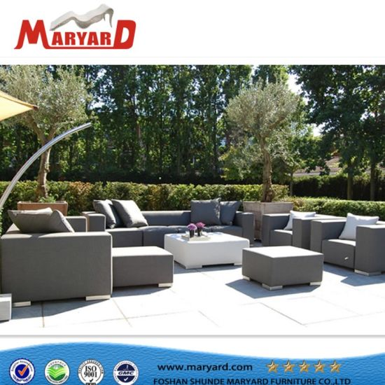 Italy Modern Leather Sofa With Sunbrella Fabric And Fabrics Outdoor  Furniture Sets